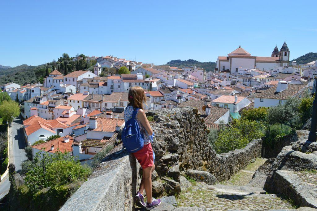 Castelo de Vide - Marcella takes in the view