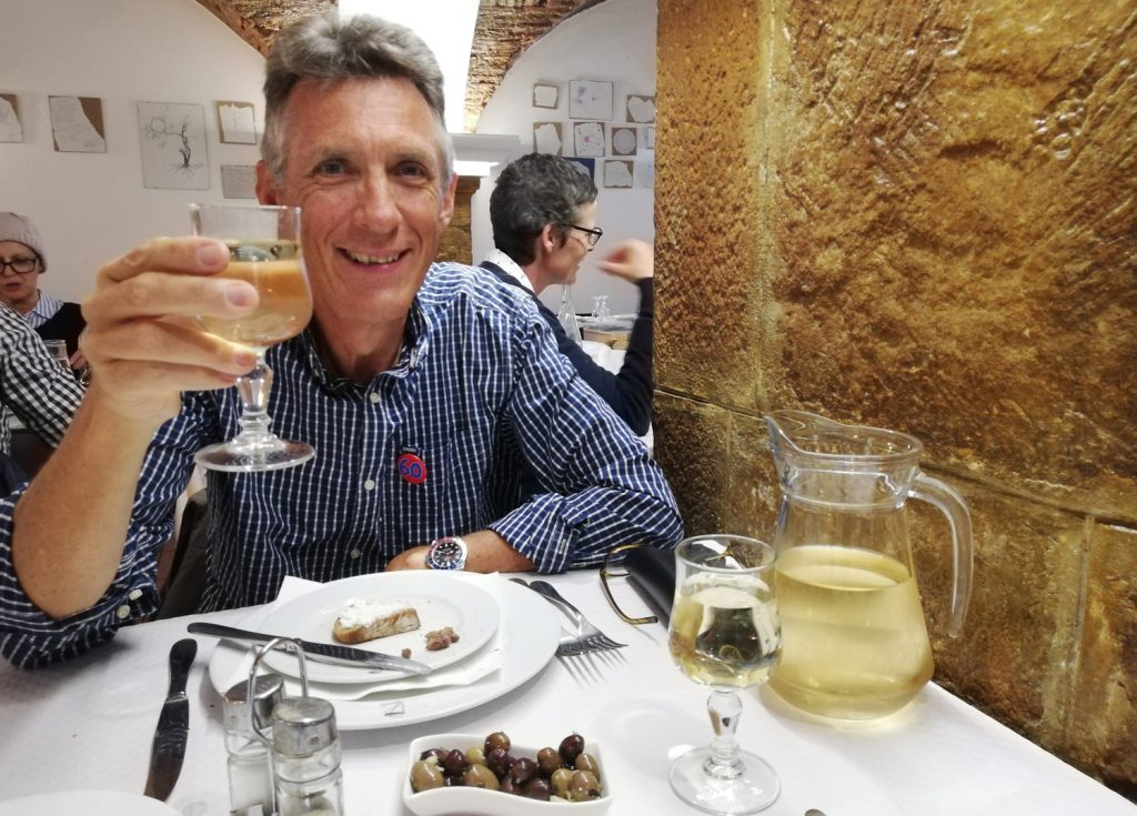 Castelo de Vide - Birthday glass of wine