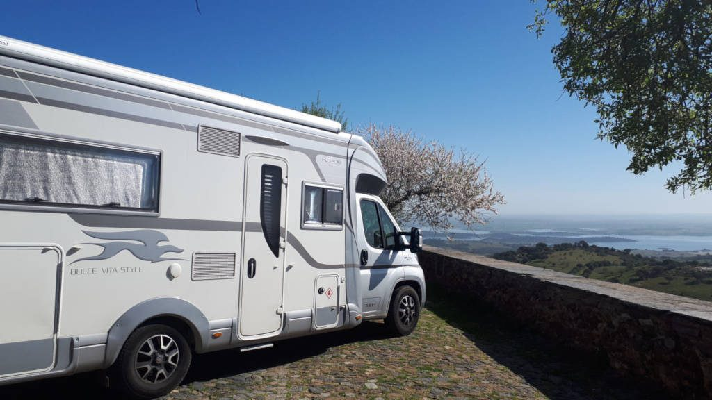 Motorhome parking Monsaraz
