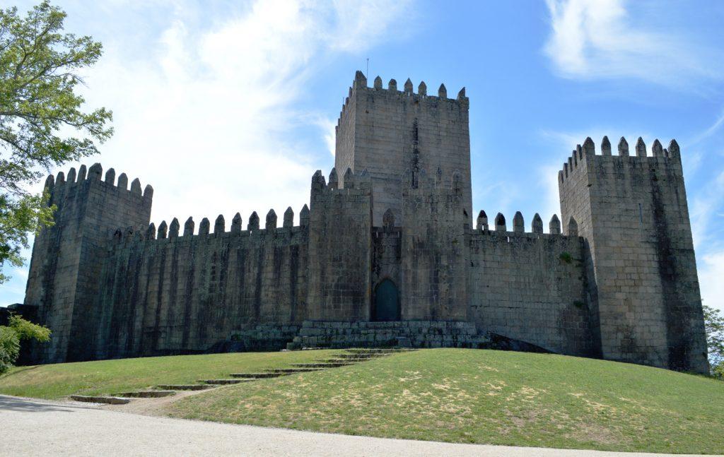 Guimaraes Castle - perched on a granite outcrop