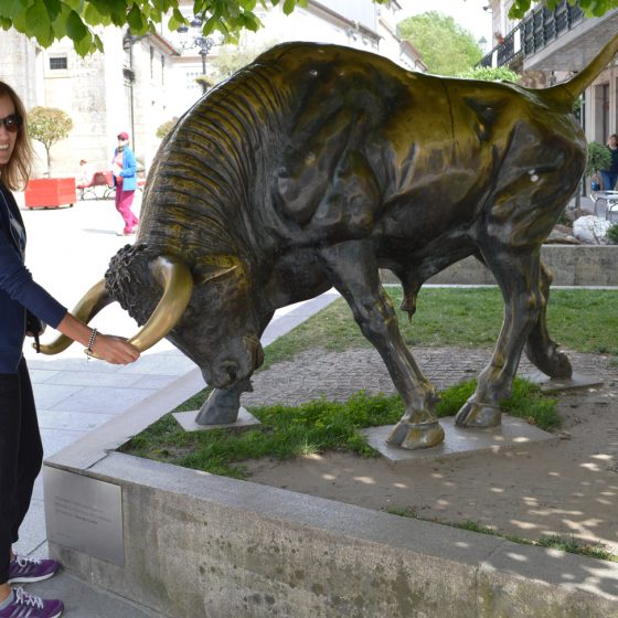 Pont de Lima - Bronze bull statue