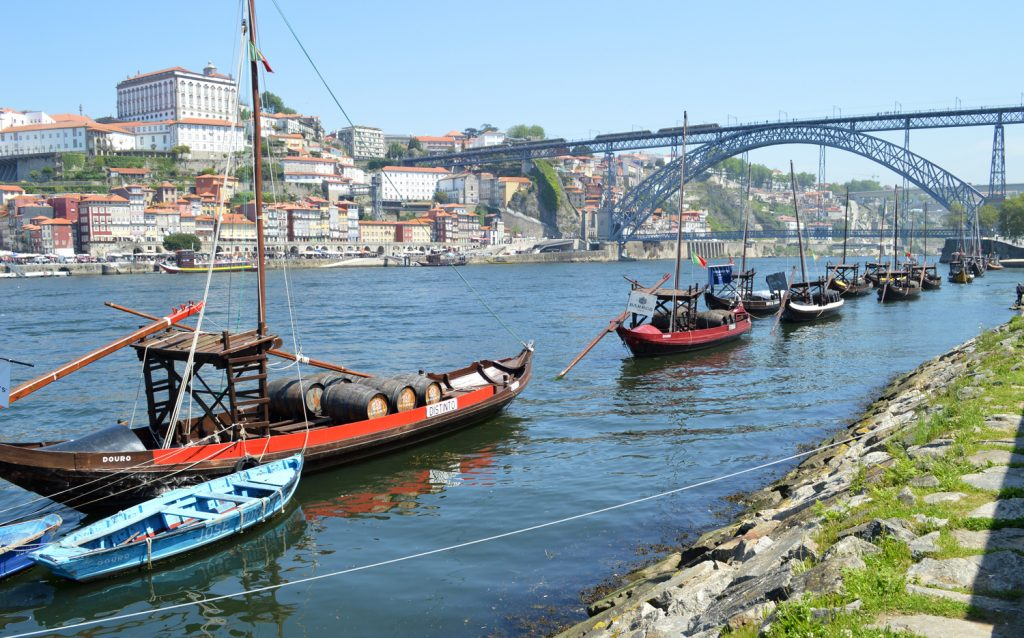 Porto - Rabelo boats representing the great Port Cellars