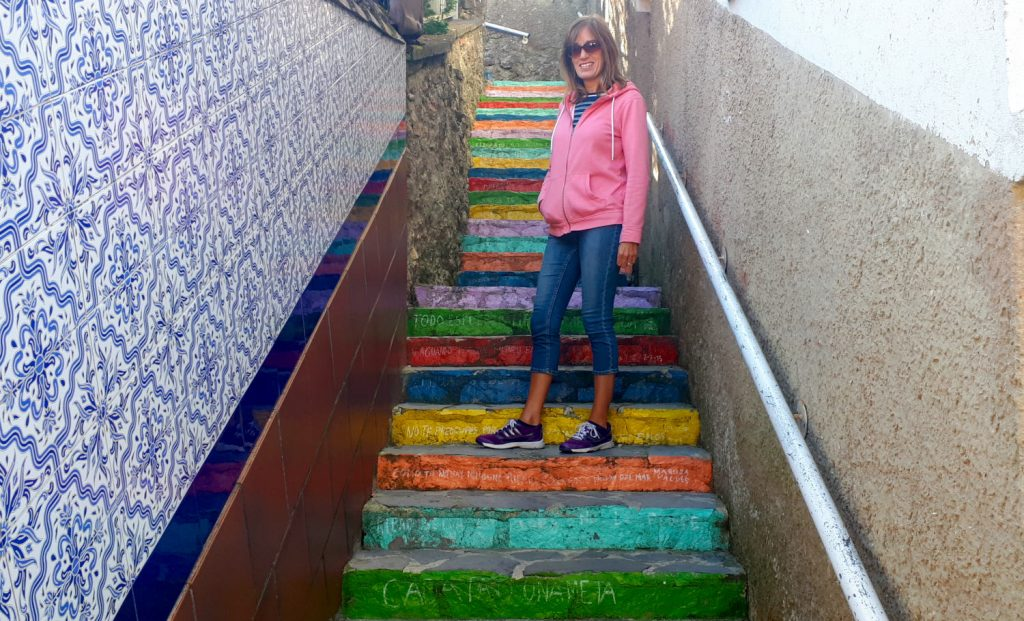 Ribadesella - Coloured steps