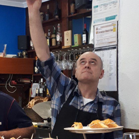 San Sebastian - Cider-pouring