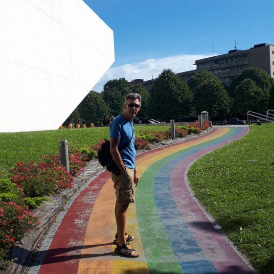 San Sebastian - University rainbow path