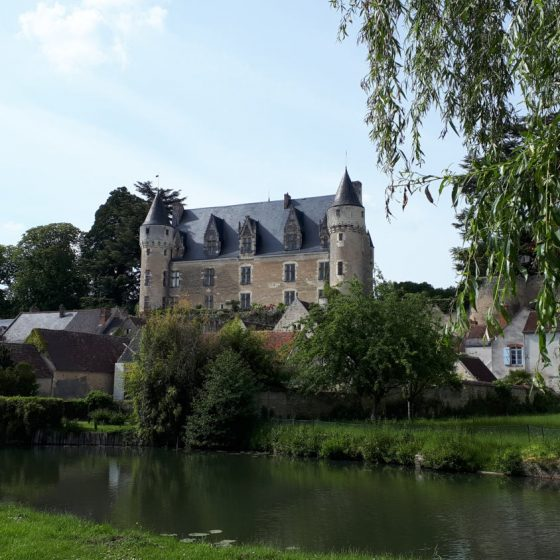 A view of the Chateau de Montresor from the river