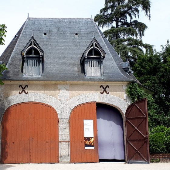 One of many buildings in the grounds of Chateau Chaumont