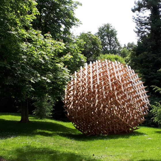 Art installation in Chateau Chaumont's grounds