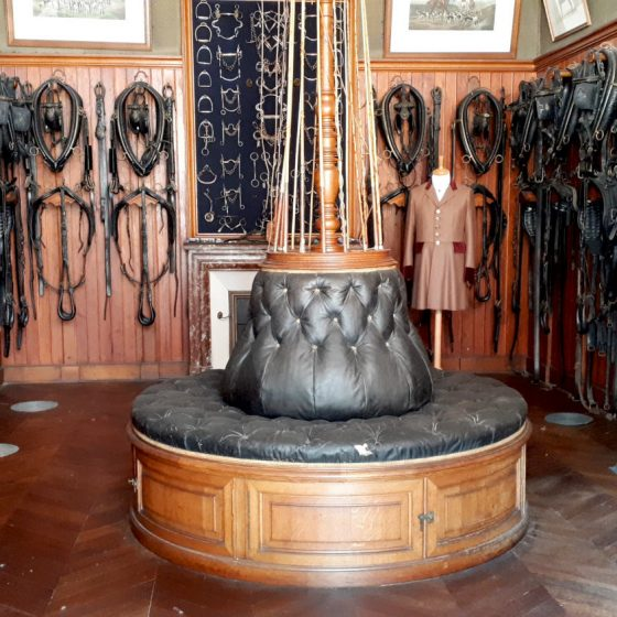 The Chateau Chaumont saddlery with old leather tack and harnesses