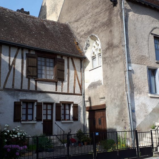 Montresor's Half-timbered houses can be seen throughout the village