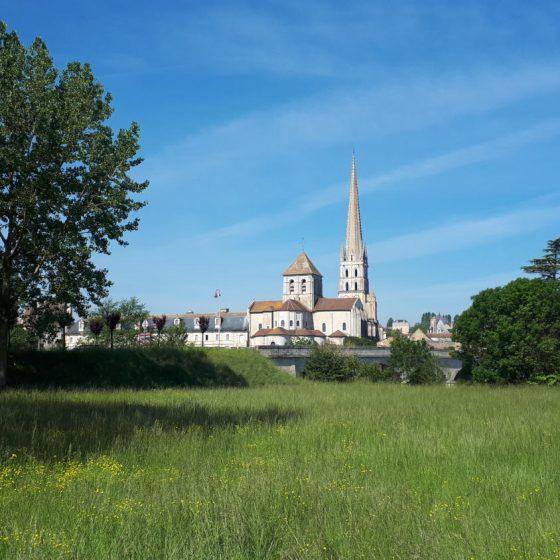 Saint Savin Abbey from across town