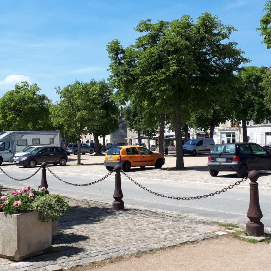 Buzz Laika the motorhome parked in St Savin