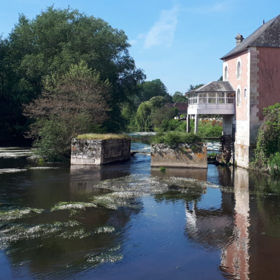St Savin's pretty water mill on the Gartempe river