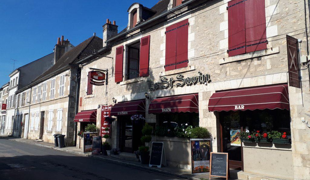 One of St Savin's appealing looking restaurants