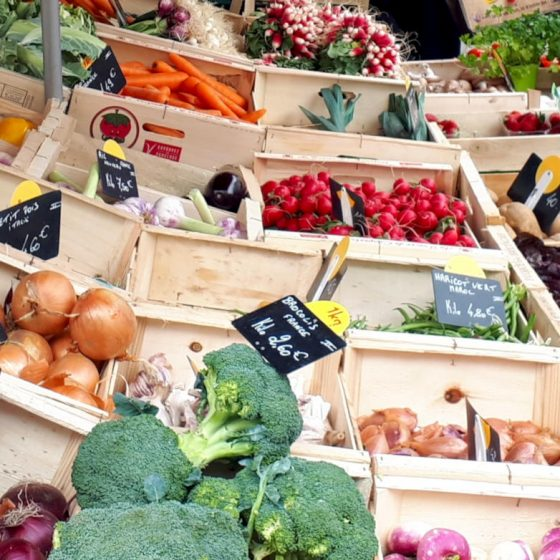 Fresh fruit and veg on offer at the market
