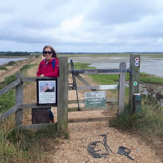 Our walk along the marshes at Keyhaven