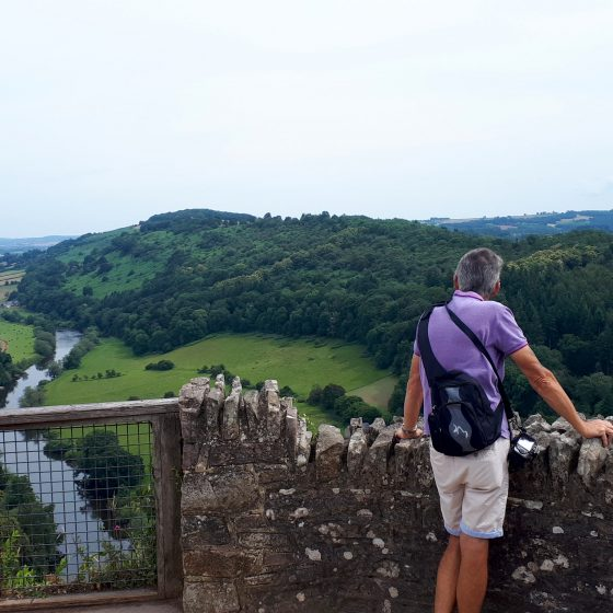 The viewpoint with lush green views over the Wye Valley