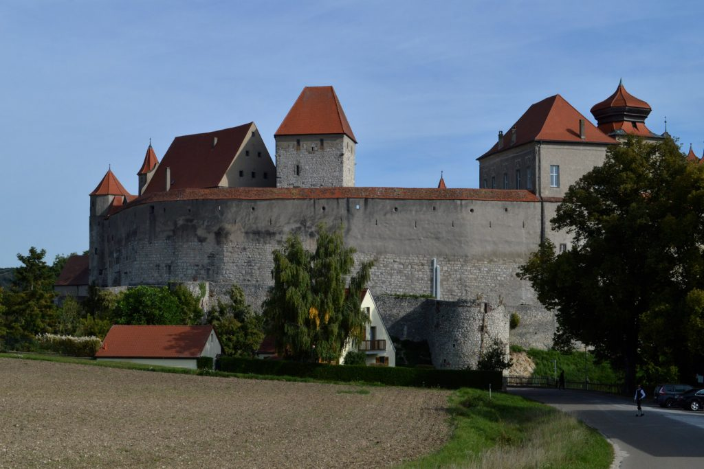 The imposing Schloss at Harburg, our morning view from Buzz