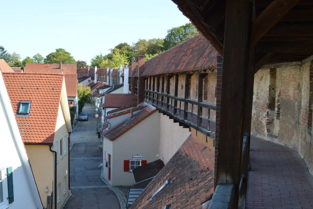 Part of the Nordlingen wall,where you can walk the entire wall.