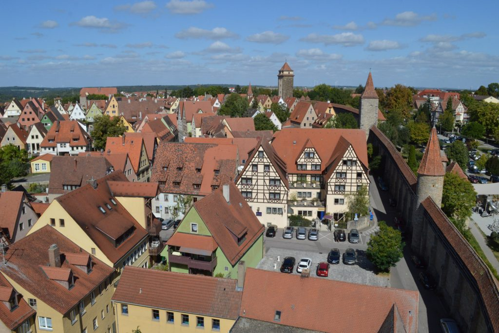 View from the top of the Roder Gate tower