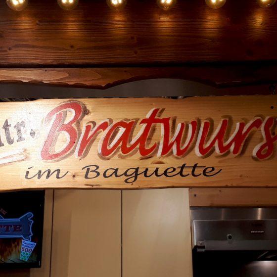 A half metre long Bratwurst should be enough for anyone!