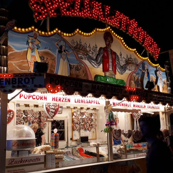 Popcorn and gingerbread galore available here.