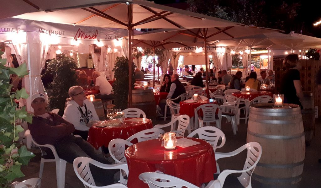 A cosy wine tent where you can try one of the 150 wines on offer