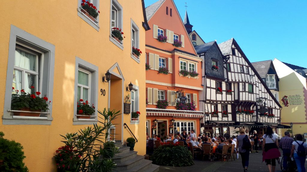 Lots of colour in the streets of Bernkastel-Kues