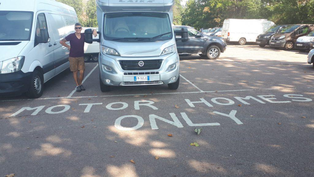 Bury St Edmunds motorhome parking - thank you!