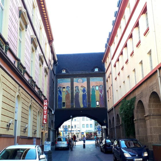 The colourful streets of Koblenz