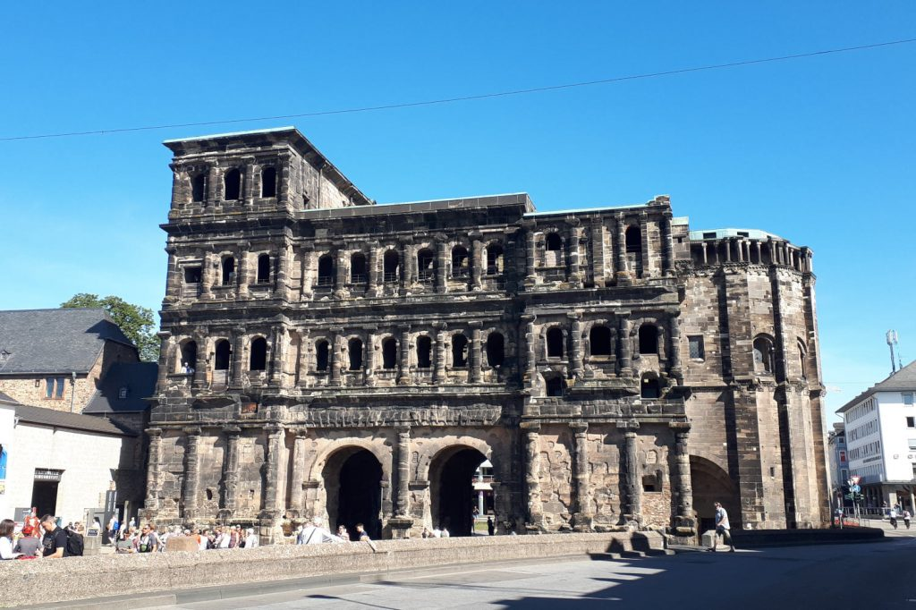 The Porta Negra original town gateway one of Trier's 8 Unesco sites