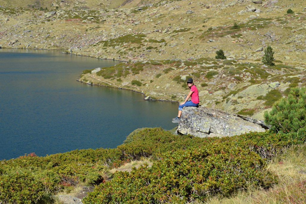 Andorra - taking in the view of the lakes