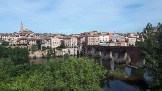 The old bridge over the river Tarn at Albi