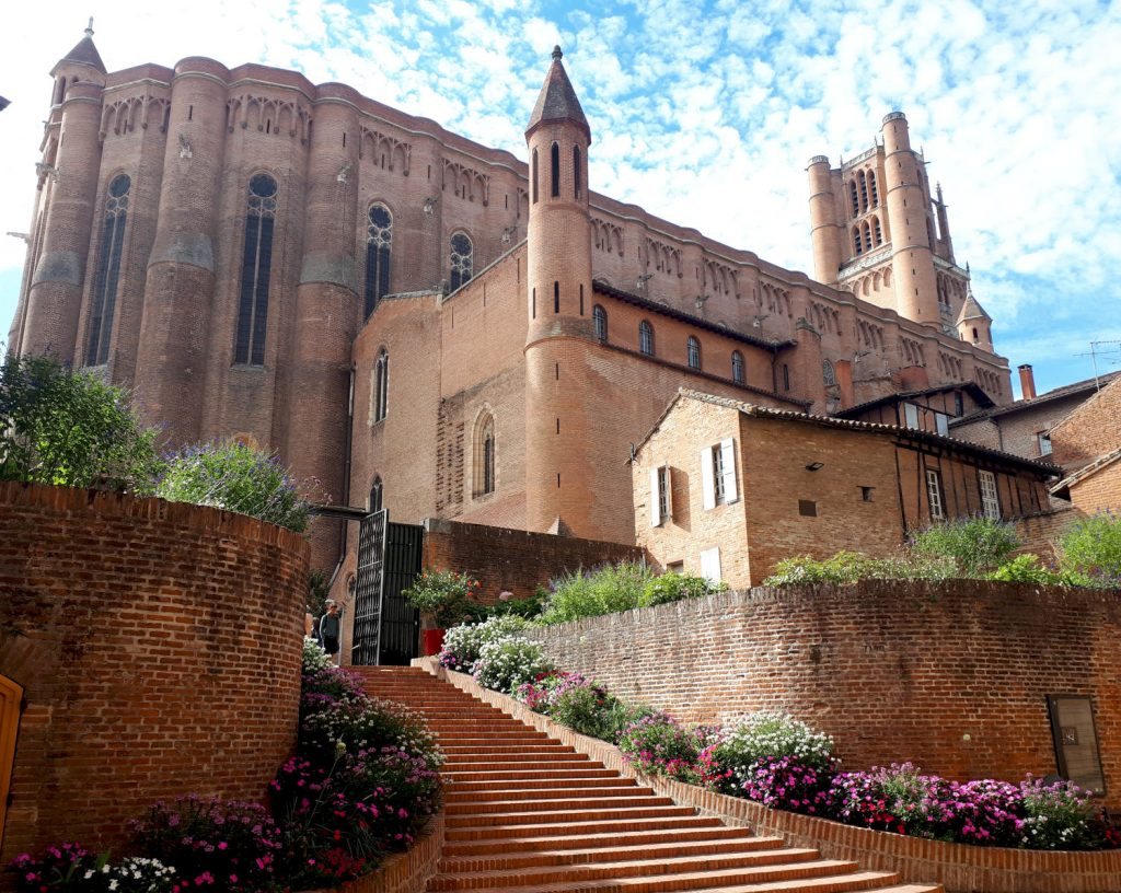 The Unesco immense red brick cathedral of Albi