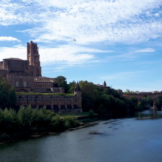 Albi Cathedral on the banks of the river Tarn