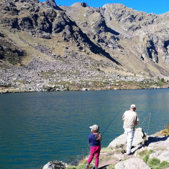 Andorra - fishing in the lake for dinner