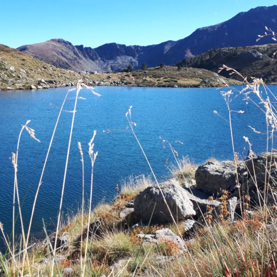 Andorra - view across large lake