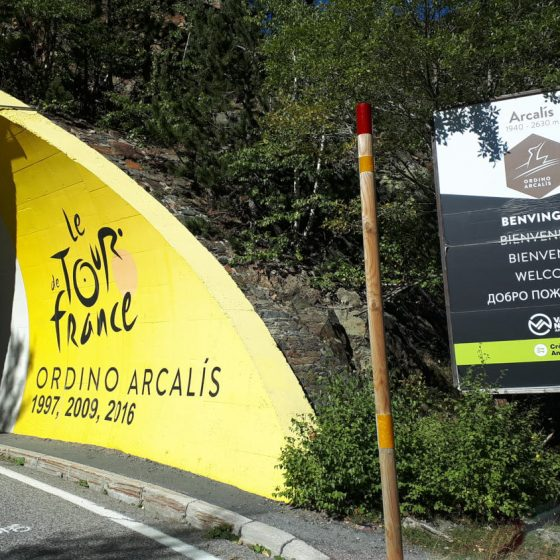 Andorra - Ordino Arcalis part of the Tour-de-France route