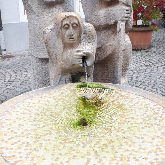 A slightly grumpy looking fountain in Bad Säckingen