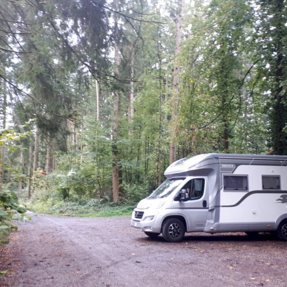 Buzz parked in the woods after Lindau