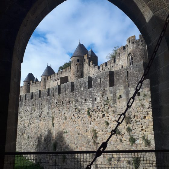 Carcassonne fortress ramparts