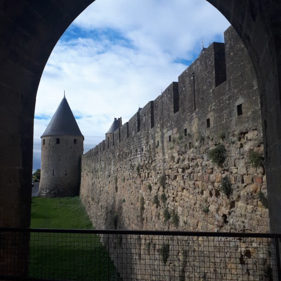 Carcassonne tower and ramparts