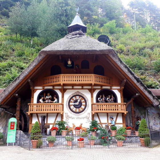 Cuckoo clocks of all sizes up to giant can be found in the Black Forest