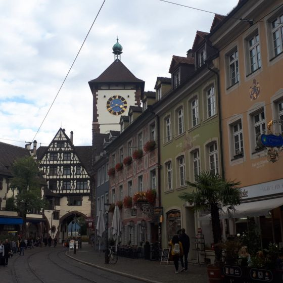 Freiburg's attractive streets and architecture