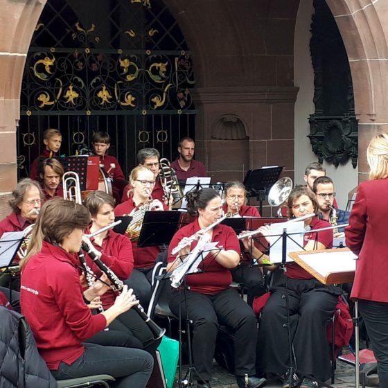 Entertainment on the streets of Freiburg