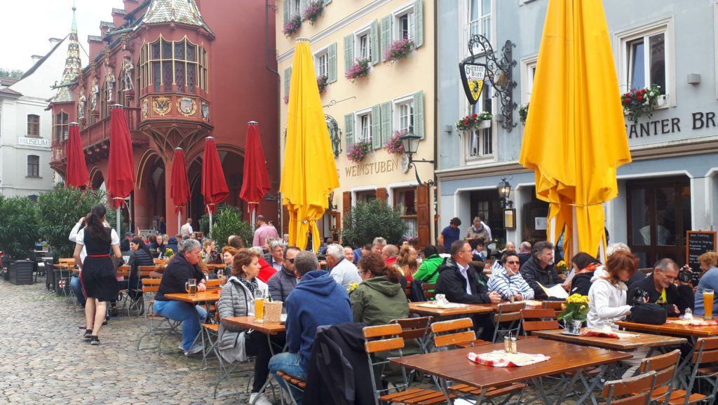 Plenty of colour and a convivial atmosphere in the cafes of Freiburg