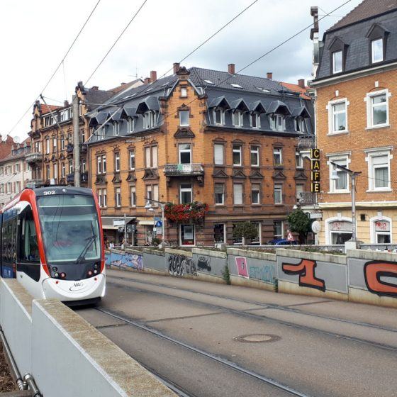 Trams run throughout Freiburg