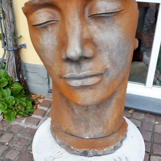 Meersburg face sculpture