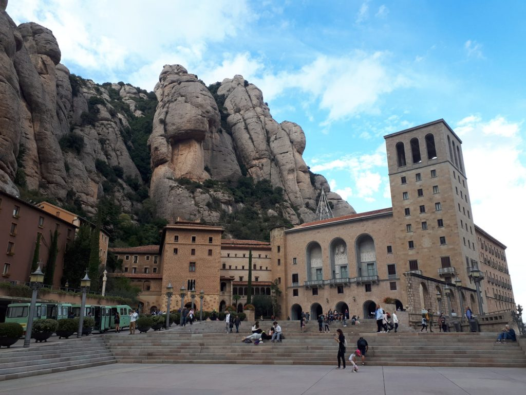 At the top of the Montserrat Monastery site