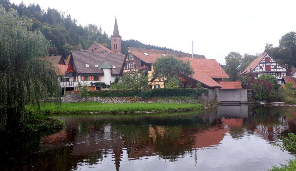 Schiltach's pretty setting alongside the Kinzig river